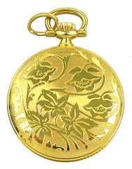 BERNEY Swiss Mini Pocket PENDANT WATCH Gold Overlay