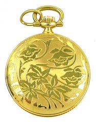 BERNEY Swiss Mini Pocket PENDANT WATCH Gold Overlay