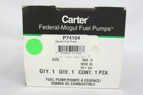 Carter Federal Mogul Fuel Pump Electrical Fuel P74104 New In Box