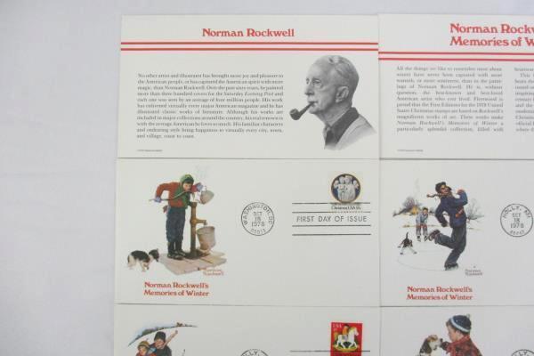 Set Of 5 Norman Rockwell Designed FDI Memories Of Winter Fleetwood 1978