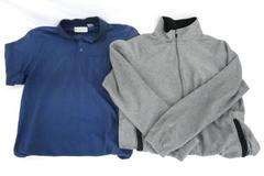 Lot of 2 - Grand Slam Golf Polo Shirt & Starter Fleece Zip Up Sweater Men's M