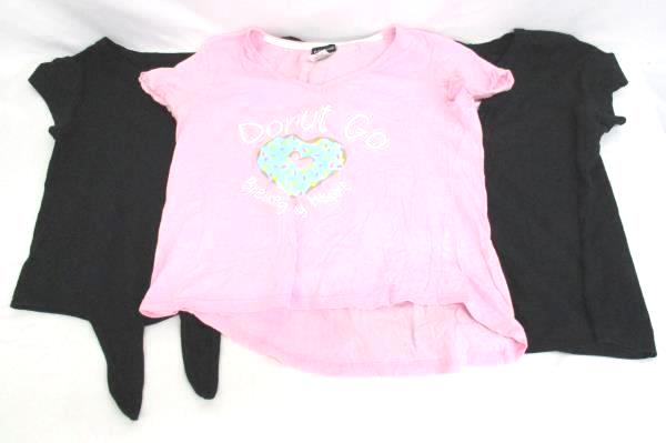 Lot Of 3 Junior Womens Shirts Rampage Pink Great Northwest Black Poof Black Sz L