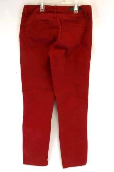 Calvin Klein Women's Red Legging Jeans Pants Size 27/4 Cotton Blend