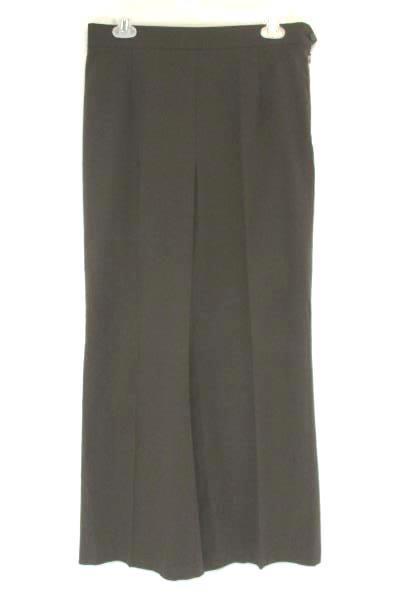 Women's TALBOTS Brown Flat Front Pants Size 10 Brown Side Zipper Stretch