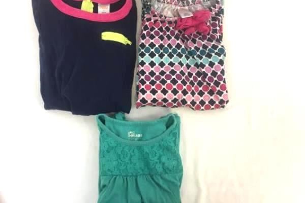 Lot of 3 Girls Shirts/Dresses by Gymobree & Epic Threads Multicolor Sz 6/6X