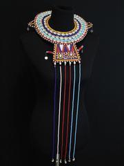 Beaded African Collar Kenya Cowrie Shells Ceremonial Tribal Wedding