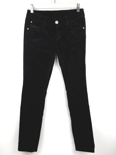 ARMANI EXCHANGE Black Corduroy Skinny Pants Silver Glitter Shimmer Women's Sz 2