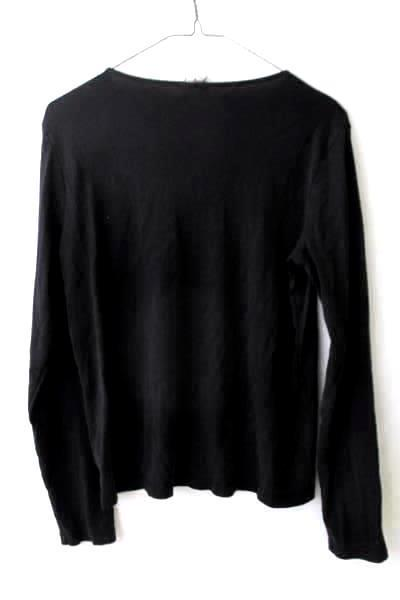 Women's Long Sleeve Shirt Solid Black by Old Navy Size M 100% Cotton Easy Fit