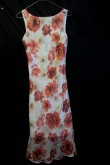 Girl's Pink Floral Sleeveless Dress By Faith & Passion Size 8 100% Polyester