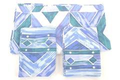 Dan Rivers Aztec Southwestern Style Blue Flat Sheet & 2 Pillowcase
