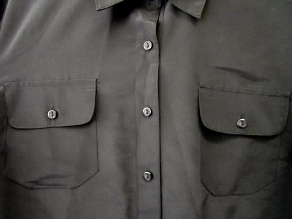 Mens Black Formal Button Up Dress Shirt By Notations Size Large Long Sleeve