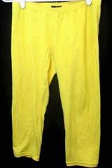 Girls Bright Yellow Pants Leggings By Wet Seal Size Small Elastic Waist Band