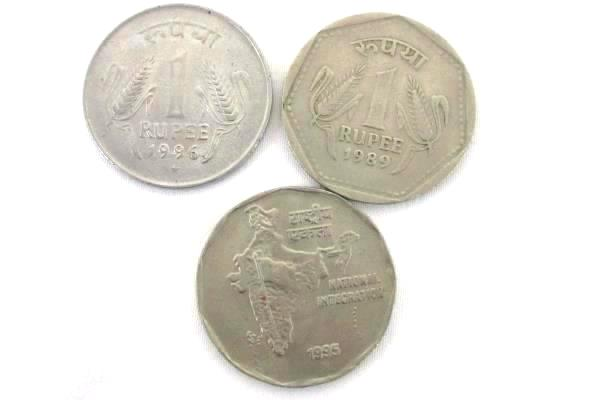 Lot of 8 India Coins Paise and Rupee 1979-1998