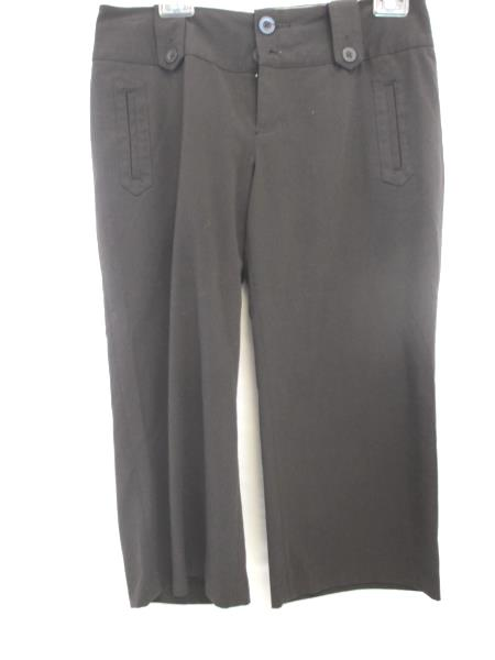Massimo Stretch Dark Brown Dress Capri Style Pants Size 6 w/ Pockets