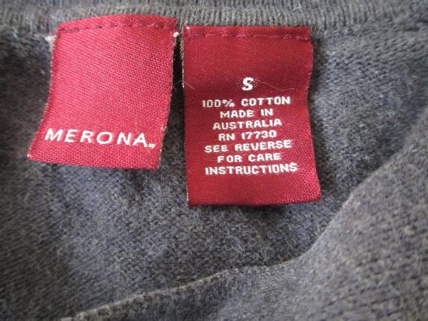 Button Up Polo Shirt by Merona Grey Blue Men's Size S 100% Cotton w/ Collar