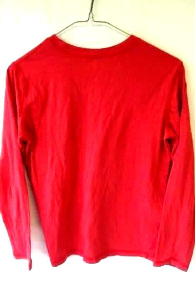 Junior Boy's Long Sleeve Shirt Solid Red by Arizona Jean Co Size M(10-12)