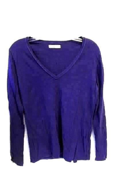 Old Navy Women's Purple Long Sleeved V-Neck Shirt Size L