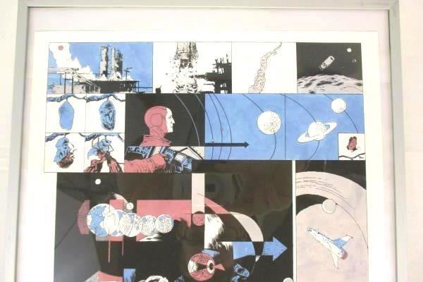 "Comic Page Art Framed 11"" x 14"" Space Mission to Mars Artwork Z. Kidd Matt '11"