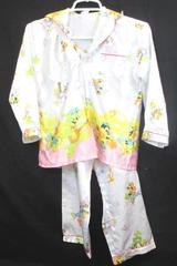 Lot of 2 Kid Girl's Pajamas Top Bottoms White Multicolor Cats Mouse Size 10