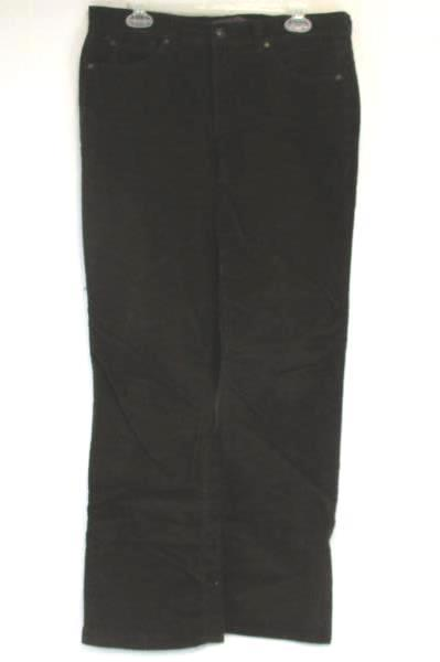 Gloria Vanderbilt Women's Missy Brown Boot Cut Pants Jeans Size 12 Cotton Blend