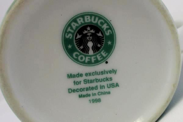 Vintage 1998 Starbucks Collectible Tea Cup Mug Tea in Many Languages