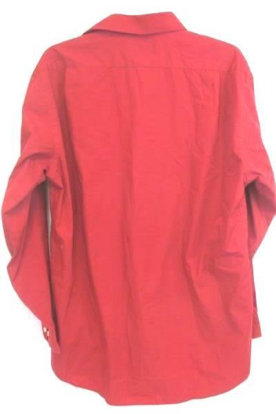 Stafford Essentials Men's Red Dress Button Up Shirt Size 16-16.5 Classic Fit