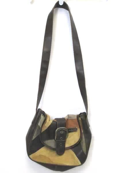 Billabong Purse Multicolor Orange Tan Brown Push Buckle Shoulder Strap Pockets