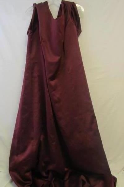 Long Formal Lined Dress By Michelangelo Burgundy 100% Polyester Sz Women's 24