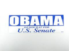 Obama Democrat For U.S. Senate 2004 Campaign Bumper Sticker