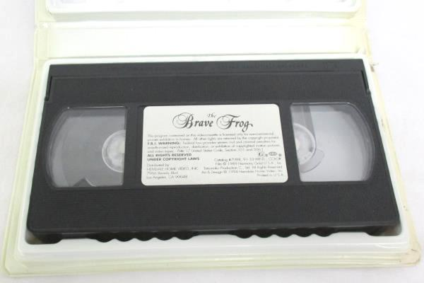The Brave Frog VHS, 1994 Clam Shell Case Hemdale Home Video Inco