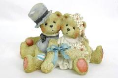 """1992 CHERISHED TEDDIES Robbie & Rachael """"Love Bears All Things"""" #911402 Wedding"""