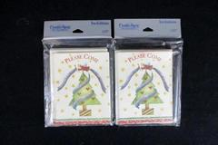 Lot of 2 Creative Papers 8-Count Christmas Themed Invitation Card Packs