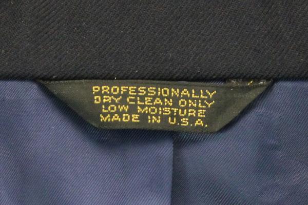 M&H San Francisco Suit Jacket Navy Blue Black Cuff Costume Dress Career 38 R