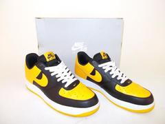 NIKE Air Force 1 Bumblebee Black University Gold White Sneakers NO INSOLES