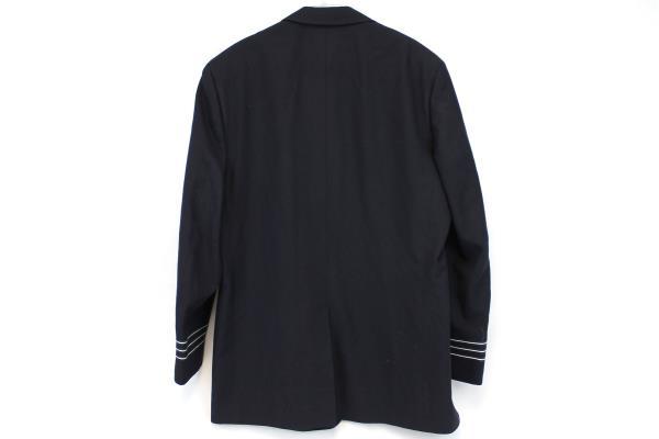 M&H San Francisco Men's Suit Jacket Navy Blue Silver Costume Dress Career 44 L