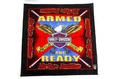 Harley Davidson Motorcycles Biker Bandana Handkerchief Eagle Armed And Ready