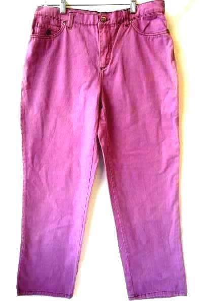 Women's Purple Jeans by Gloria Vanderbilt Size 6 w/ Pockets Button Zipper Fly