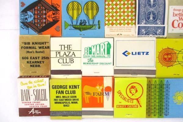 Lot of 34 Vintage Matchbooks Advertising Mixed Lot Safeway Coca-Cola GTE Bi-Mart