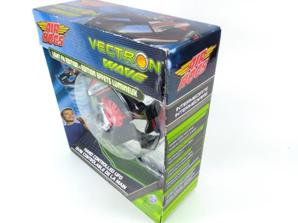 New AIR HOGS Red Vectron Wave Light FX Edition Hand Controlled UFO