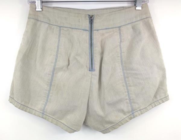 KIMCHI BLUE Acid Wash Stretch Denim High Waisted Shorts Women's 4