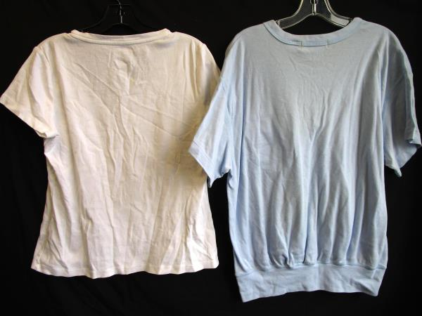 Lot of 2 Women's T-Shirts By Karen Scott II and St. John's Bay Size L and 38/18W