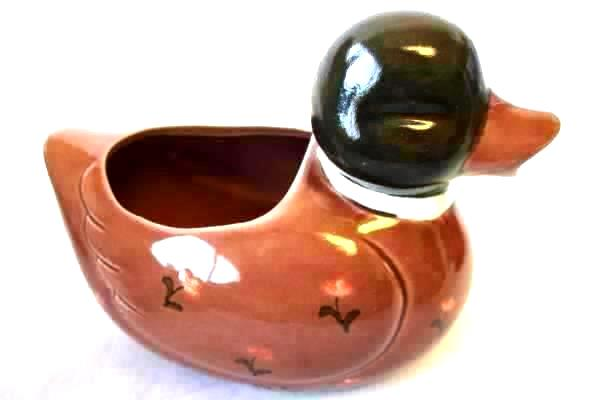 Lot Of 2 Ceramic Brown Duck Themed Teapot Sugar Bowl Creamer Dishes By Otagirl