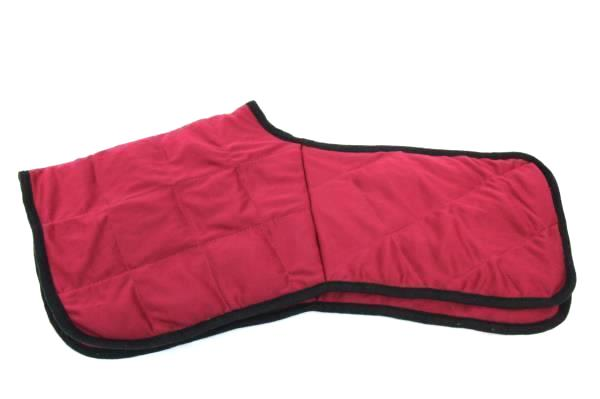 """Heating Pad Hot Cold Therapy Neck Warmer Maroon w/ Black Trim Size 22.5"""""""