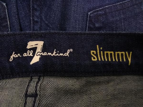 7 For All Mankind MedDark Wash Slimmy Luxe Performance Stretch Denim Jeans Sz 31
