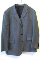 Men's Suit Jacket by Stefanno Arimondi  Dark Blue Gray White Size 44
