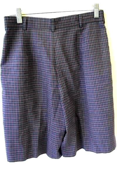 Multicolor Plaid Pleated Shorts w/ Pockets and Belt Loops By Tail Men's Size 8