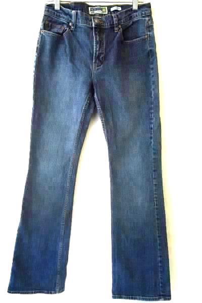 Women's Blue Medium-Dark Wash Jeans By Old Navy Sz 8L w/ Pockets and Belt Loops