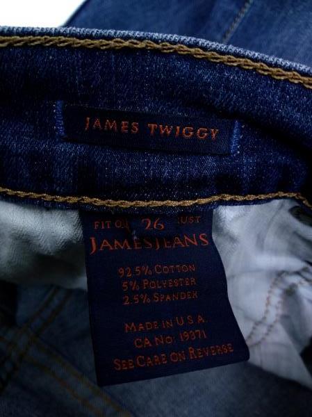JAMES JEANS Dark Wash Twiggy Cabana 5 Pocket Stretch Distressed Legging Sz 26