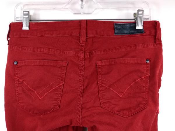 """WILLIAM RAST Jeans Scarlet Red """"Kara Skinny"""" Stretch Denim Women's Sz 28"""