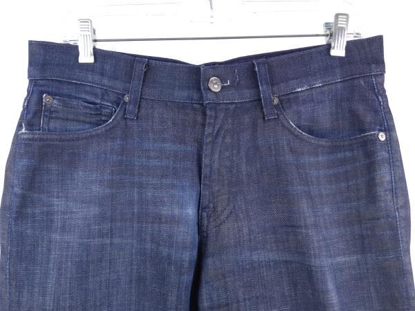 7 FOR ALL MANKIND Dark Wash Slimmy Luxe Performance Stretch Denim Jeans Sz 31